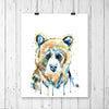Bear Baby Watercolor Painting - Peekaboo Bear