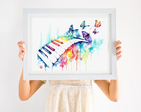 Colorful Piano Picture