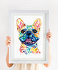 Fawn French Bulldog Watercolor Painting