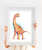 Brachiosaurus Art Print Watercolor Painting