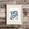 Snow Leopard Watercolor Art Print by Lisa Whitehouse