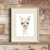 Llama Watercolor Painting Art Print