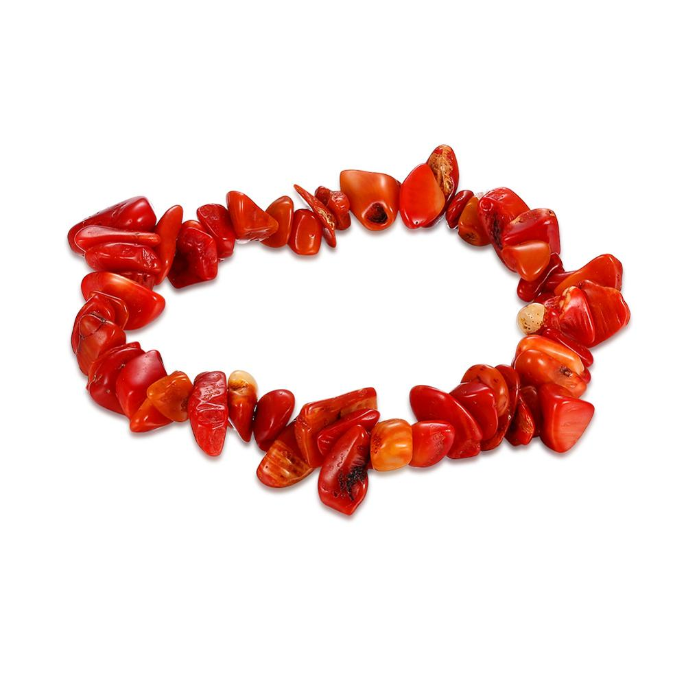 Red Coral Charm Bracelet For Women