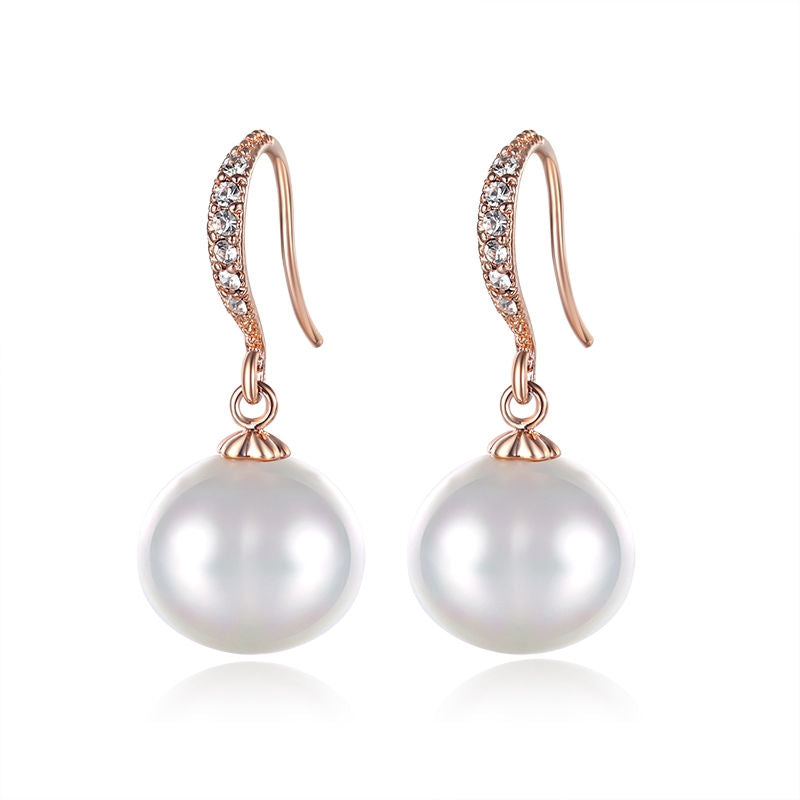 Luxury Drop Earrings With Sea Shell Pearls