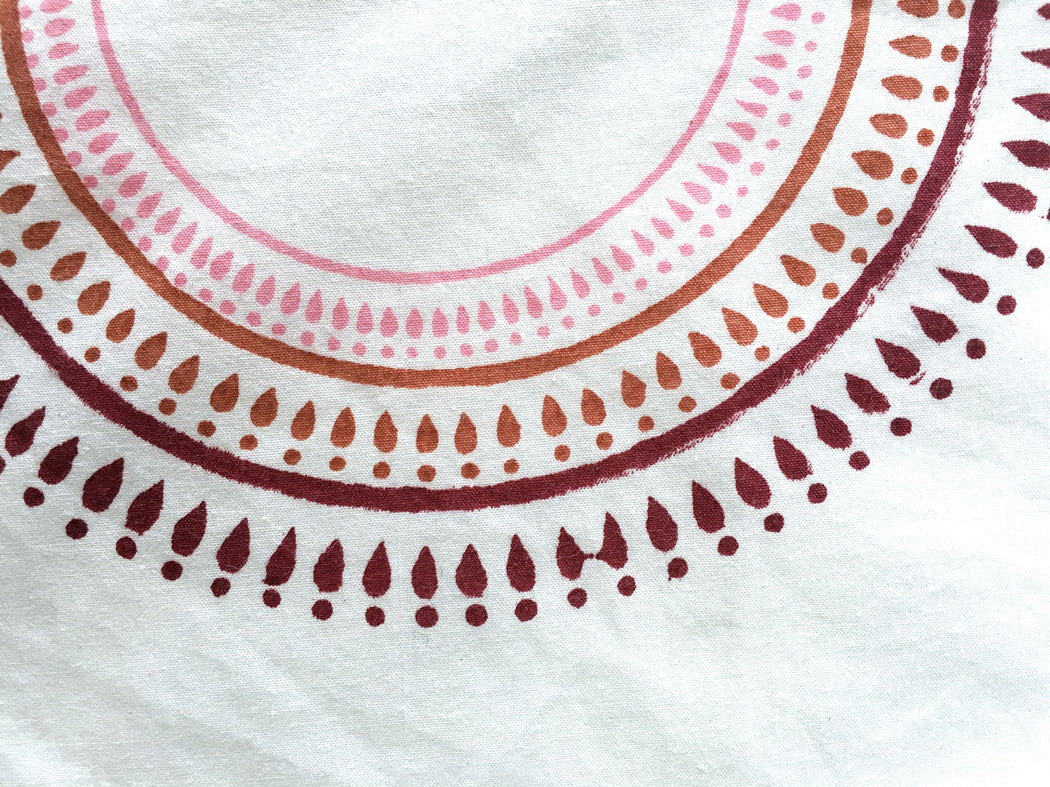 Pink Medallion Multipurpose Throw