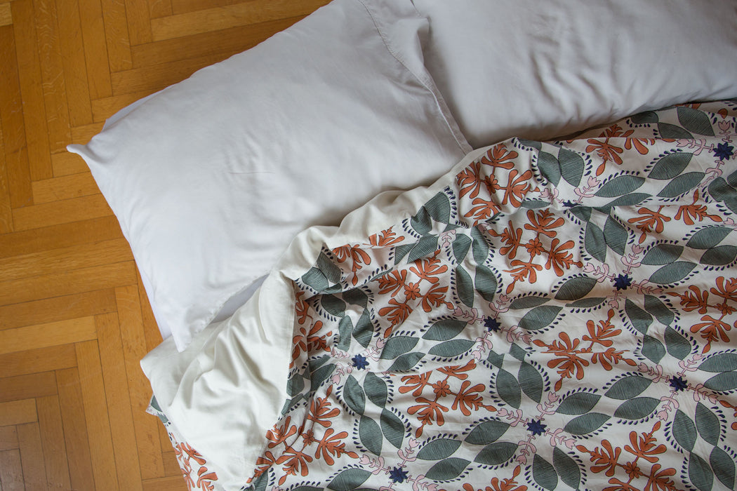 Orange Sage Duvet Cover