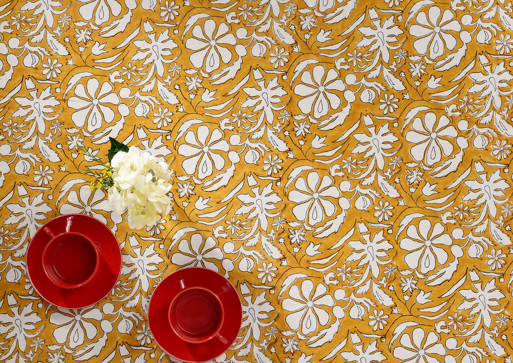 Gold Homegrown Tablecloth