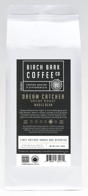 Dream Catcher Swiss Water Process (Decaf. Blend)-Medium/Dark Roast (12oz)