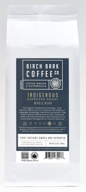 Indigenous Espresso-Medium/Dark Roast (12oz) Please choose Whole Bean or Ground Below