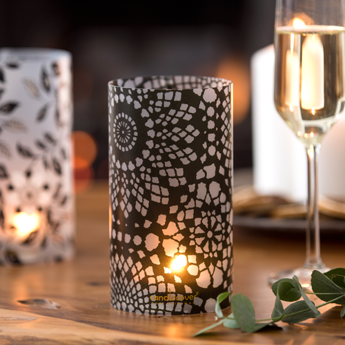 Arabeske Monochrome Candlecover candle