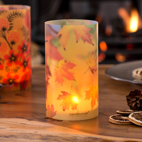 Autumn Leaves Candlecover