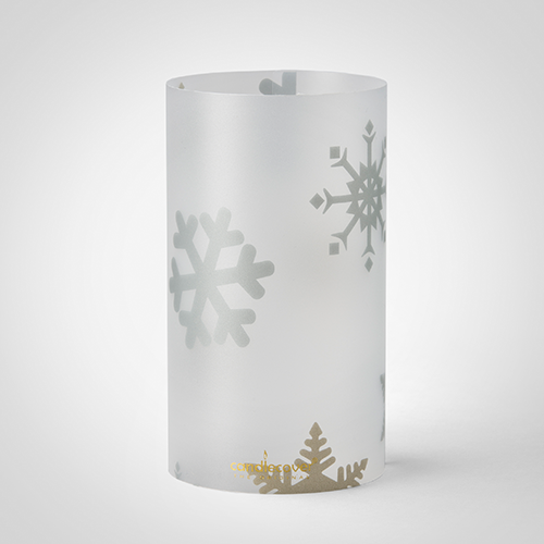 Christmas white Candle Candlecover Snowflake
