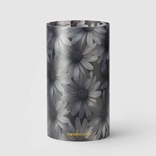 Black and White flowers Home Gift Candlecover Monochrome