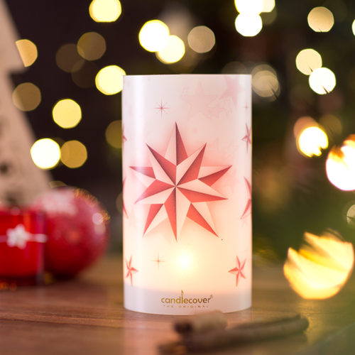 Star Candle Christmas Candlecover Xmas