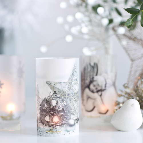 White Christmas Candle Candlecover