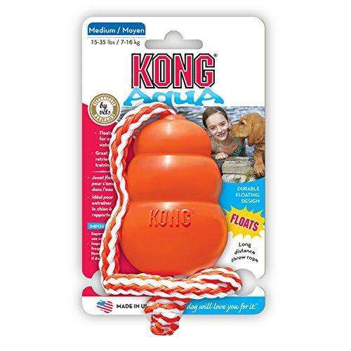 Compare cheap offers & prices of KONG Aqua Dog Toy Medium 8.5cm Orange manufactured by KONG