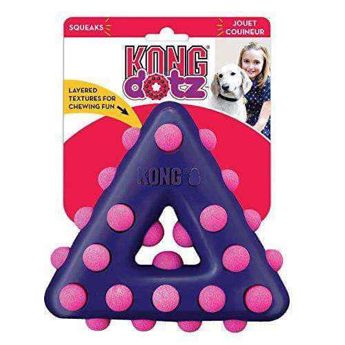 Compare cheap offers & prices of KONG Dotz Triangle Dog Toy - Large manufactured by KONG