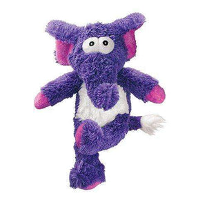 KONG Cross Knots Plush Squeaky Dog Chew Toy - Elephant