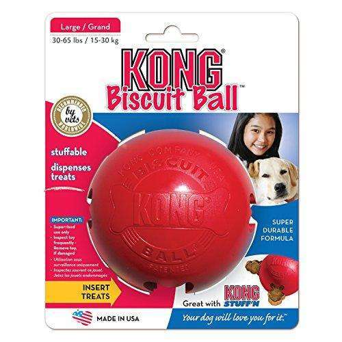 Compare cheap offers & prices of KONG Biscuit Ball Dog Toy Red - Large manufactured by KONG