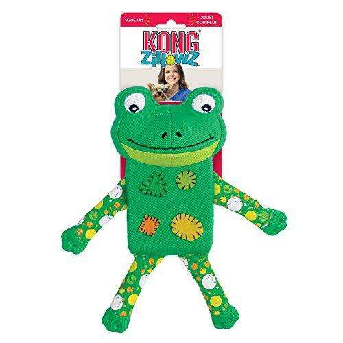 Compare cheap offers & prices of KONG Zillowz Frog Dog Toy Large Green manufactured by KONG