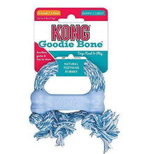 KONG Puppy Goodie Bone with Rope Dog Toy, Blue/Pink