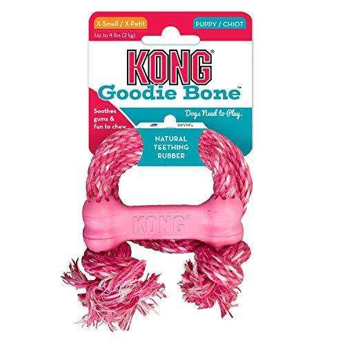 KONG Puppy Goodie Bone with Rope Dog Toy
