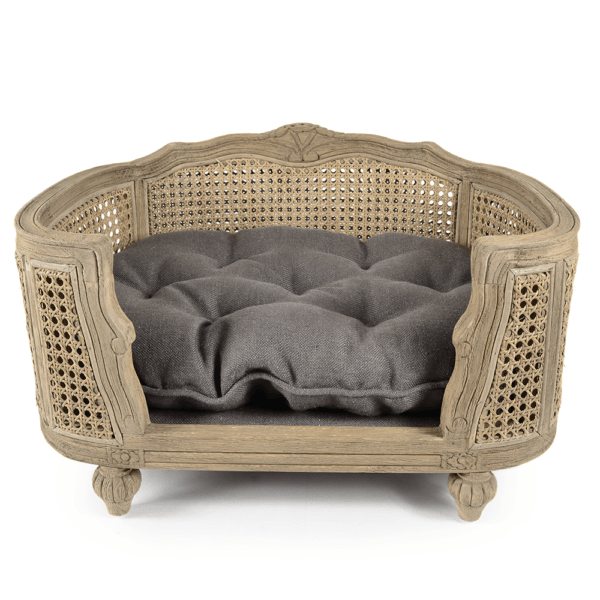 Lord Lou Arthur Luxury Dog Bed - Charcoal Brown