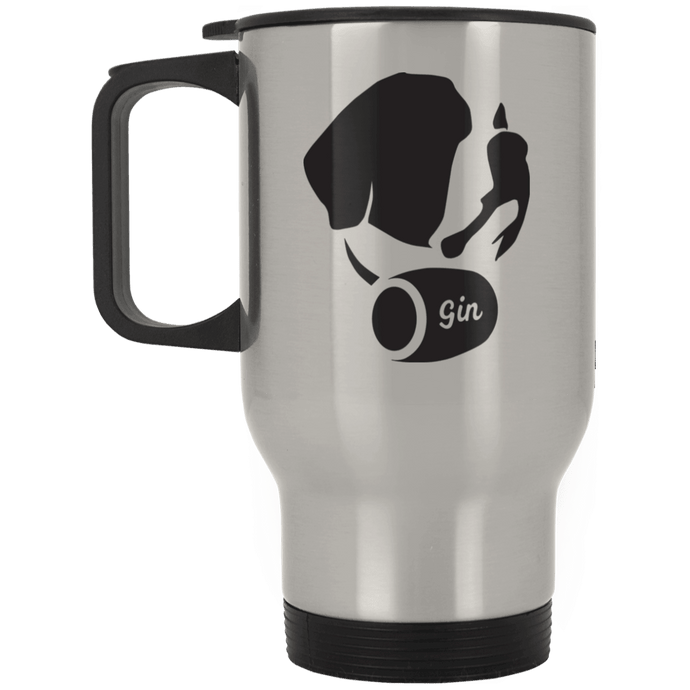DoggieCo Gin Silver Stainless Travel Mug