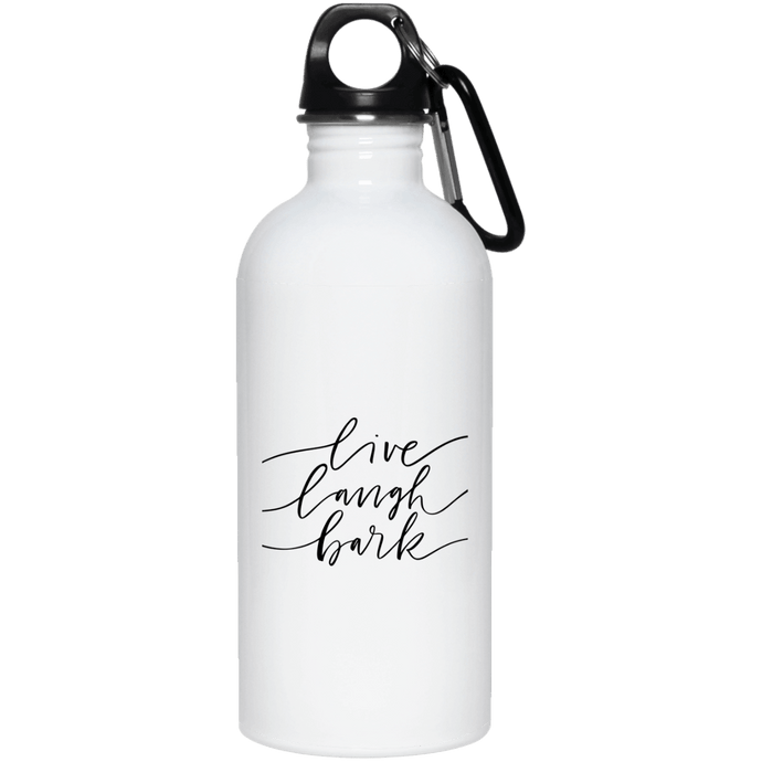 DoggieCo Live Laugh Bark 20 oz. Stainless Steel Water Bottle