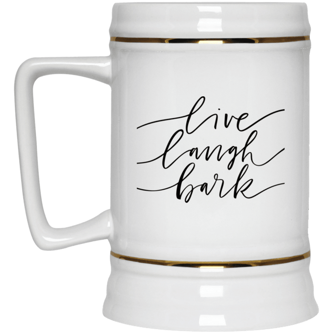 DoggieCo Live Laugh Bark Beer Stein 22oz.