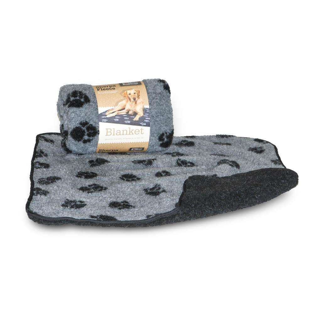 Danish Design Fleece Grey Blanket Paw