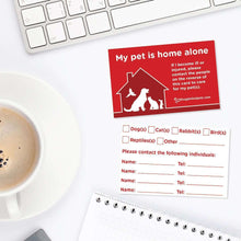 Emergency Pet Alert Pack - 2 x Stickers and 3 x Business Cards