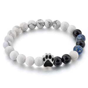 Natural Stone Beads Dog Paw Bracelet