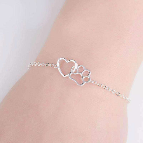 Dog Love Heart Bracelet