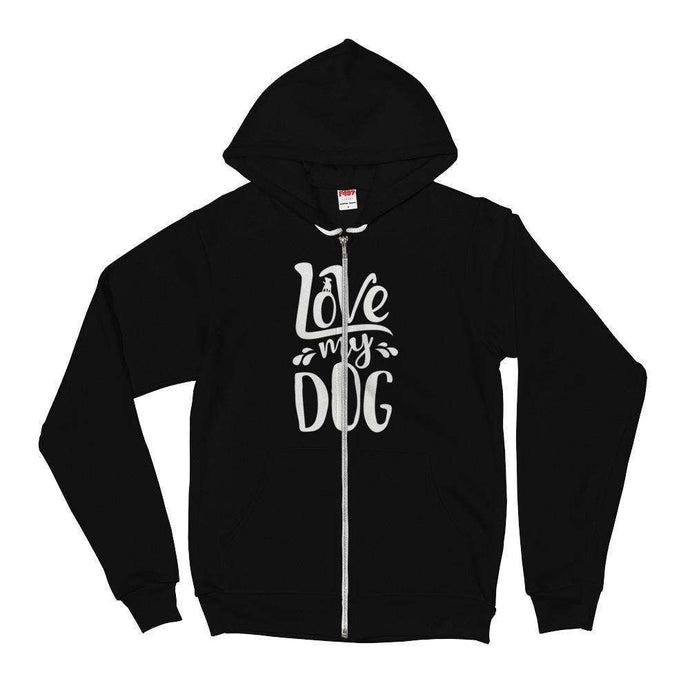DoggieCo Love My Dog Flex Fleece Zip Hoodie