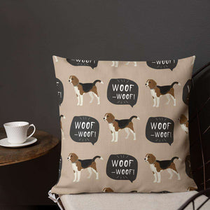 Beagles Pattern Premium Pillow