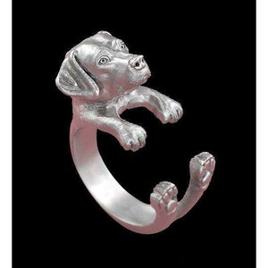 Retro Labrador Ring