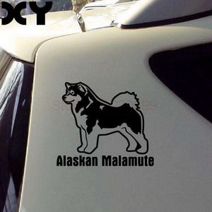 Alaskan Malamute Car Sticker