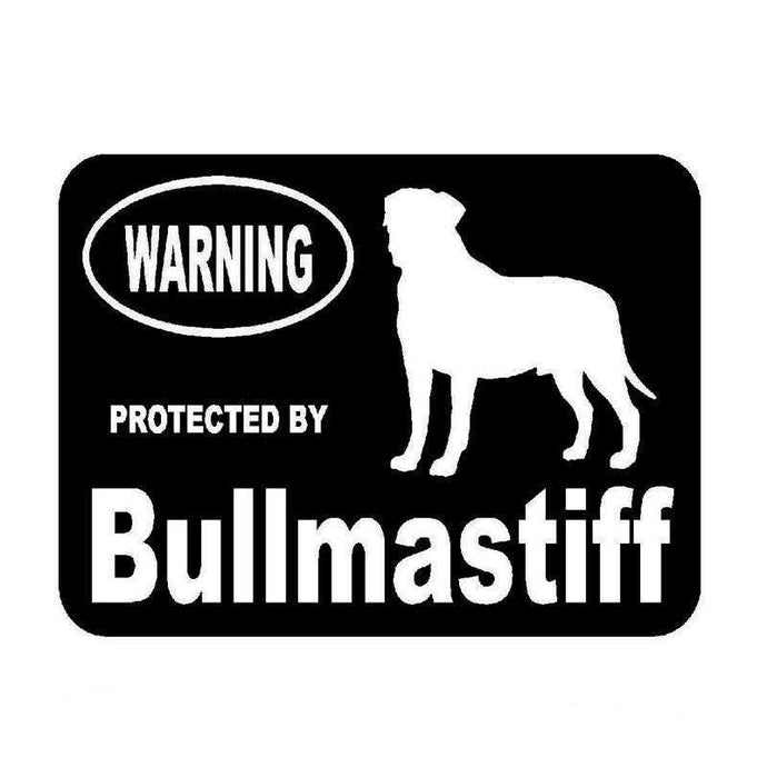 Protected By Bullmastiff Car Sticker