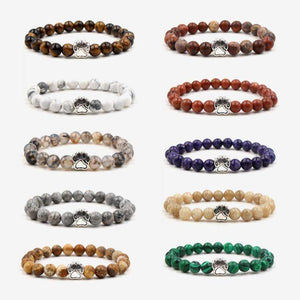 Natural Stone Beads Dog Paw Bohemia Bracelets