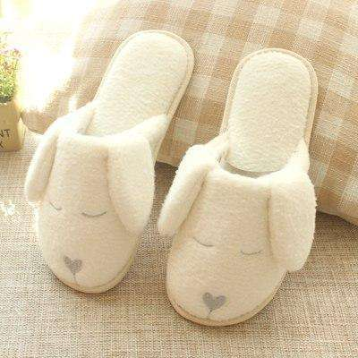 Dog Plush Heart Nose Slippers