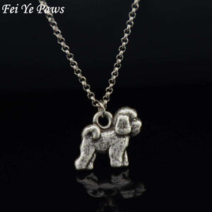 Bichon Frise Dog Charm Pendant Necklace