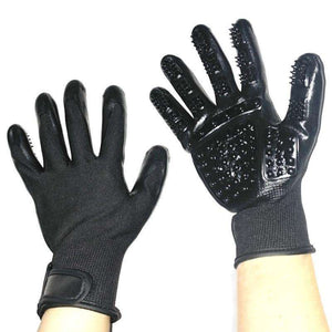 Rubber Deshedding Gloves