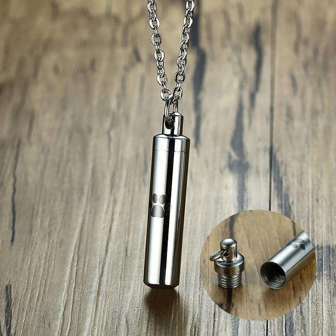 Dog Cremation Pendant Necklace
