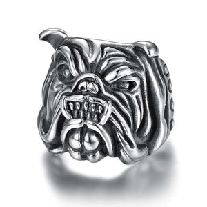 Punk Bulldog Dog Ring