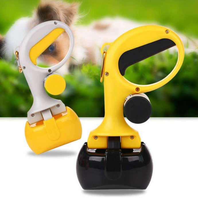 Portable Shit Pickup Remover Pooper Bags 1 Set Pet Products 2 In 1 Pet Pooper Scooper Outdoor Waste Cleaning Poop Pick Up Holder