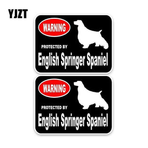 Protected By English Springer Spaniel Car Sticker