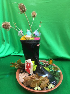 How to up-cycle an old welly into a fairy garden