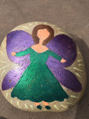 Fairy painted stone