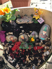 Fairy garden with fox
